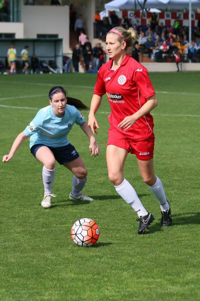 Canberra FC's Grace Gill believes that her team has what it takes to do it again. Photo: Supplied.