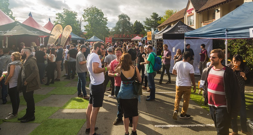 Canberra Craft Beer & Cider Festival in the gardens of Mercure Canberra. Photo: Supplied.