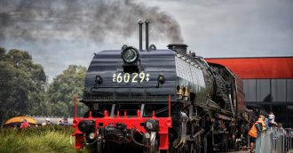 Prized steam engine  8217 s new owners to keep Garratt at NSW Rail Museum