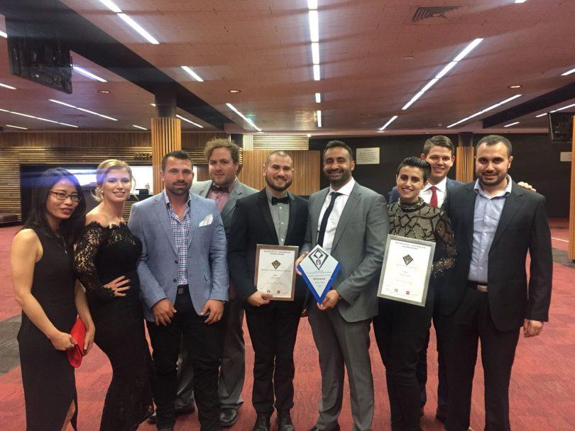 Achieve Home team after winning a HIA award