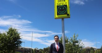 Smiley-face signs to help combat speeding on Canberra's problem streets