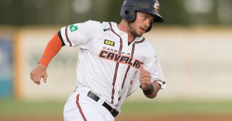 Cavalry infielder Jay Baum  8217 s record-breaking season rewarded with top ABL batting award