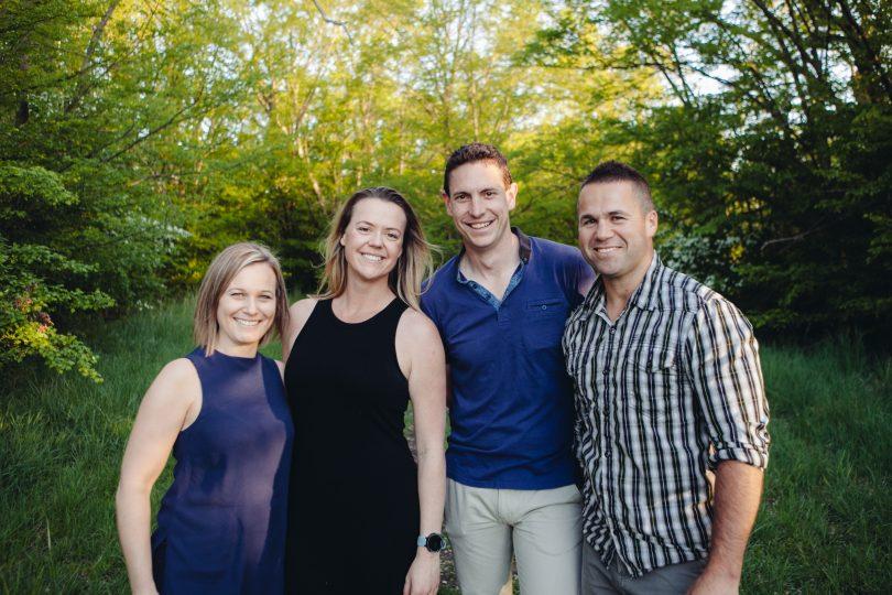 Peter Blackshaw Real Estate Belconnen directors from left to right – Rebecca Braddon, Esther Sebbens, Matt Sebbens and Michael Braddon.
