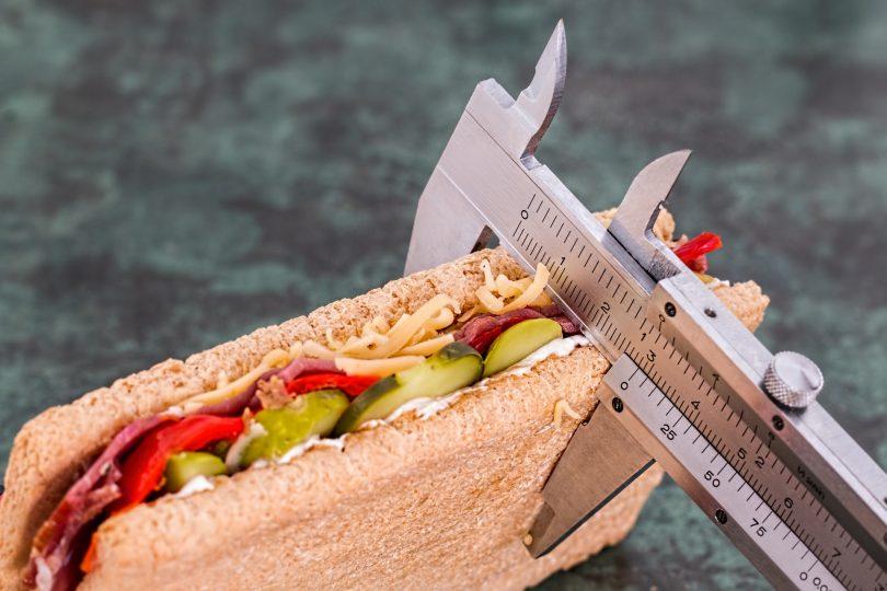 measuring a sandwich