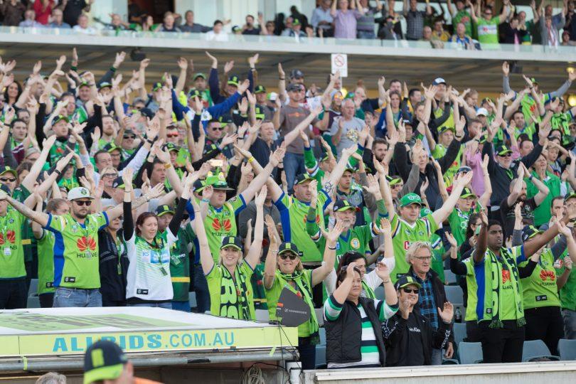 The Viking clap at GIO Stadium