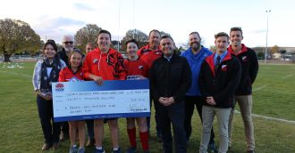 Cooma Red Devils score  30 000 grant for a new canteen at home ground