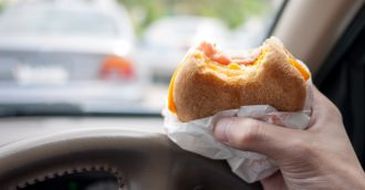 ACT motorists having near misses while being distracted by kids  pets and hunger pangs