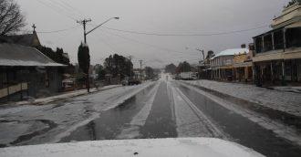Winter arrives on the Tablelands