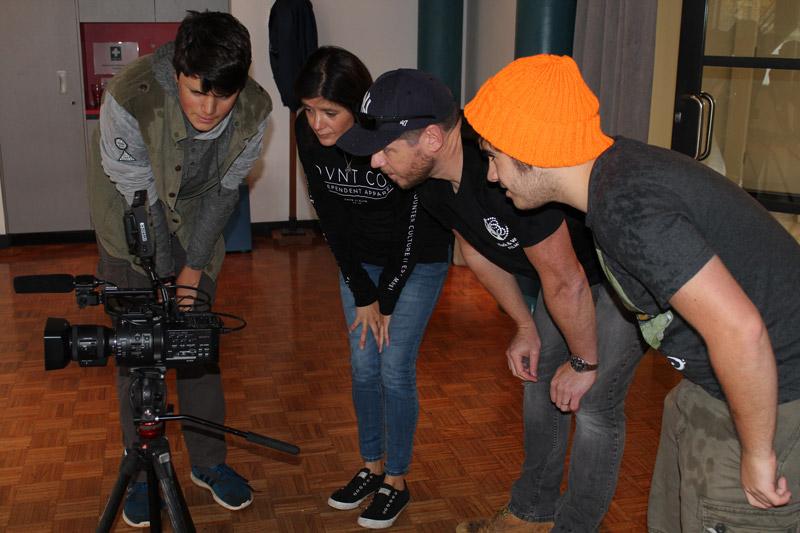 Filmmaker Marissa McDowell and students at Tuggeranong Arts Centre