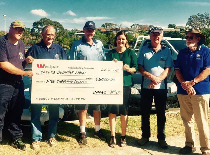 Cooma Monaro Historic Automobile Club raised $5,000. Photo: Mayor Kristy McBain Facebook.