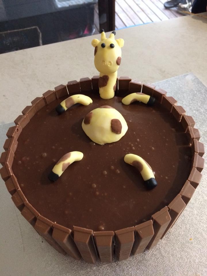 Nailed it! Sheree Epe's Giraffe Mud Bath. Photo: Sheree Epe Facebook.