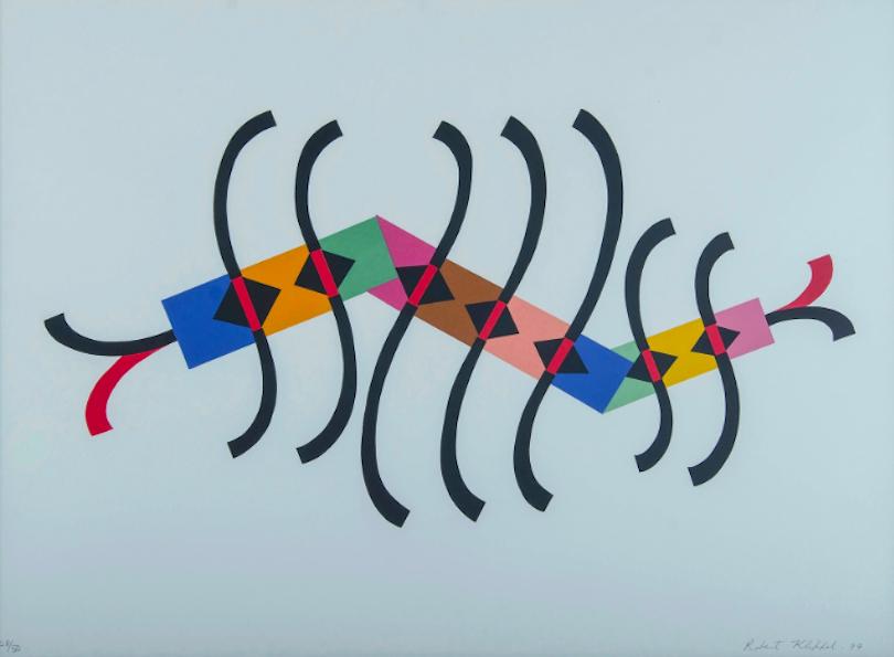 Robert Klippel colourful artwork