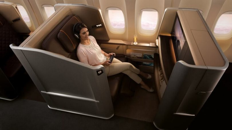 First class on Singapore Airlines, now flying daily out of Canberra. Photo: Singapore Airlines.