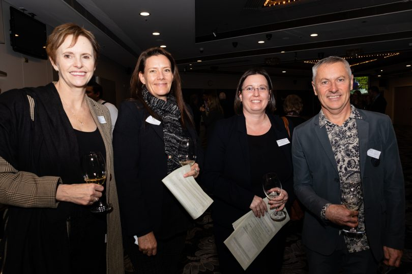 Liz Bendeich (Canberra Convention Bureau), Kate Palmer (Canberra Convention Centre), Michelle Rhind (Canberra Convention Centre) and Tony Mansfield (Contentious Character)