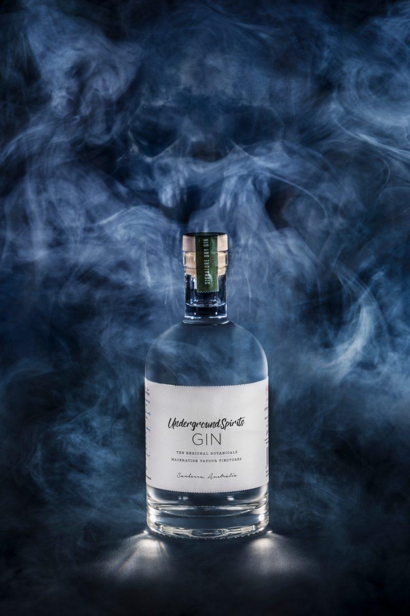 Gin: Ten Regional Botanicals - Underground Spirits. Image by Adam McGrath from H Creations