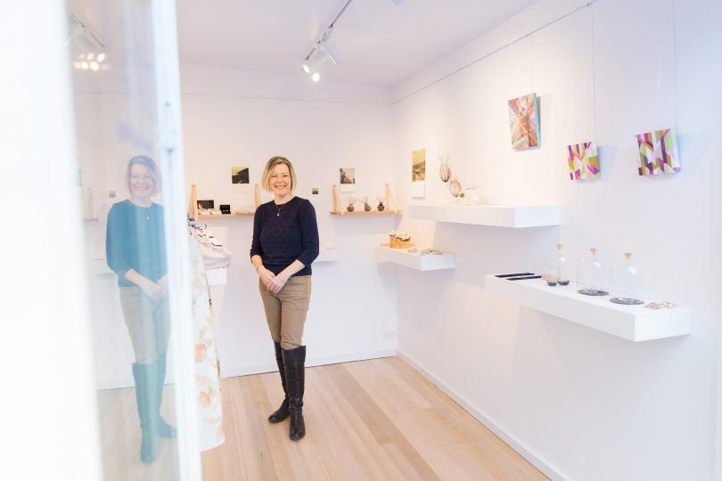 Anne in her gallery. Photo: Mel Hill Photography.