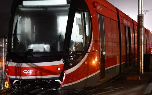 Vehicle rolled out on to track as light rail testing set to start