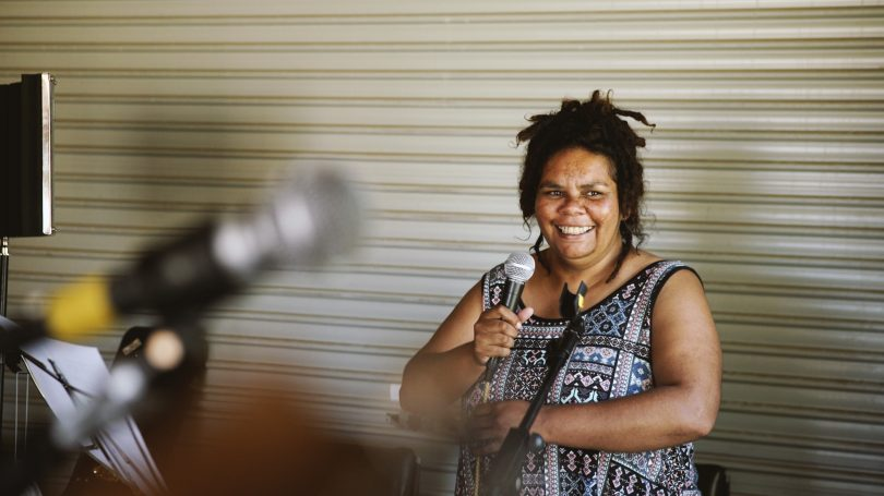 Alison Walker from Wallaga Lake has been honing her performance skills through Grow the Music programs offered by South East Arts. She will perform at Giiyong Festival on 22 September. Image by Grow the Music.