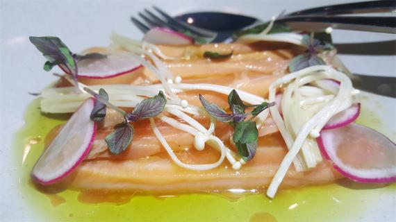 Yuzu Cured Salmon
