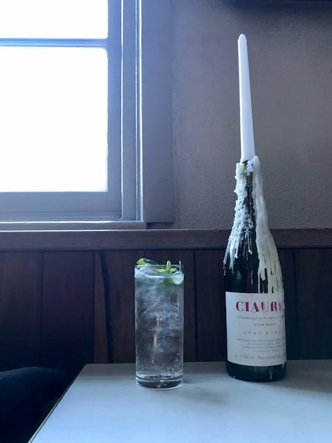 Underground Alchemy Cocktail from Bar Rochford with Lemon Myrtle Tea & Elderflower Liqueur. Photo: Sophia Brady