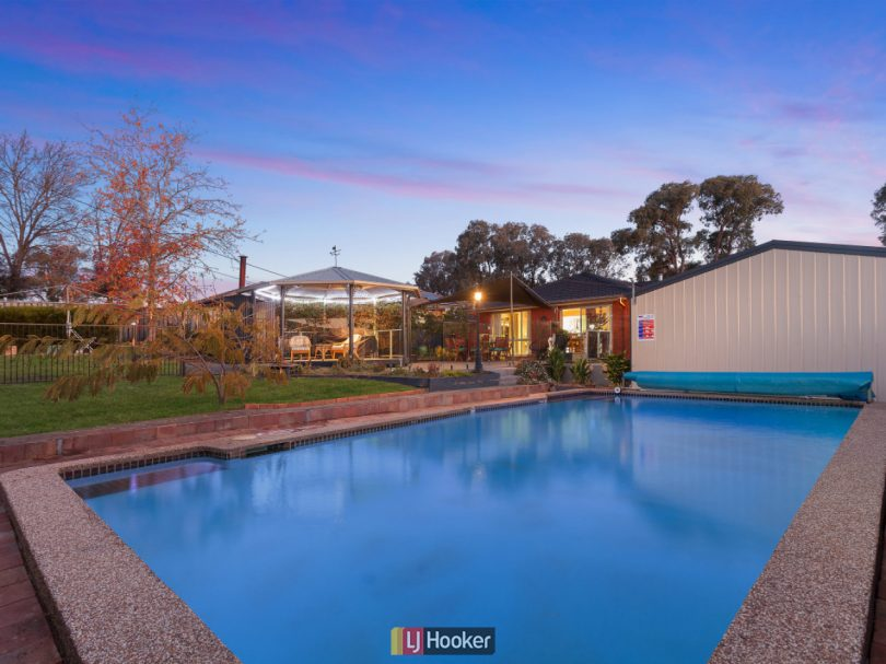 This four-bedroom home with a gazebo and saltwater swimming pool was sold at auction on the weekend for $787,000. All photos supplied by LJ Hooker Belc