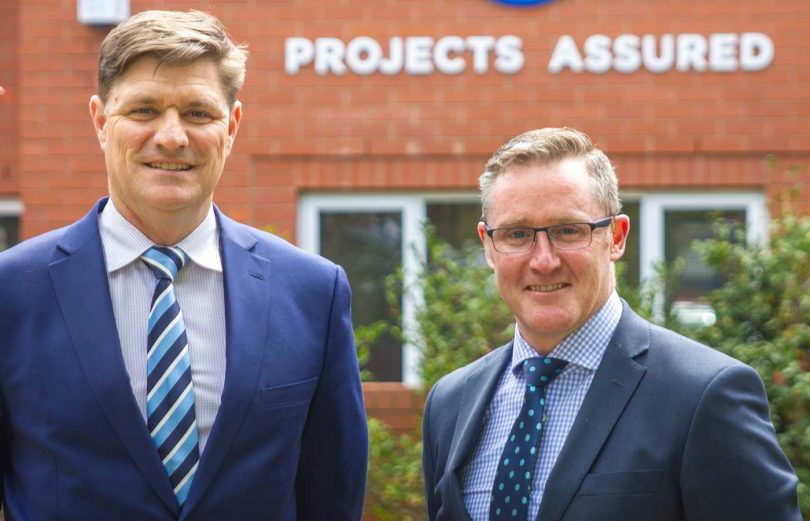 Projects Assured co-founders David O'Rourke and Greg Sly. Photo: Supplied