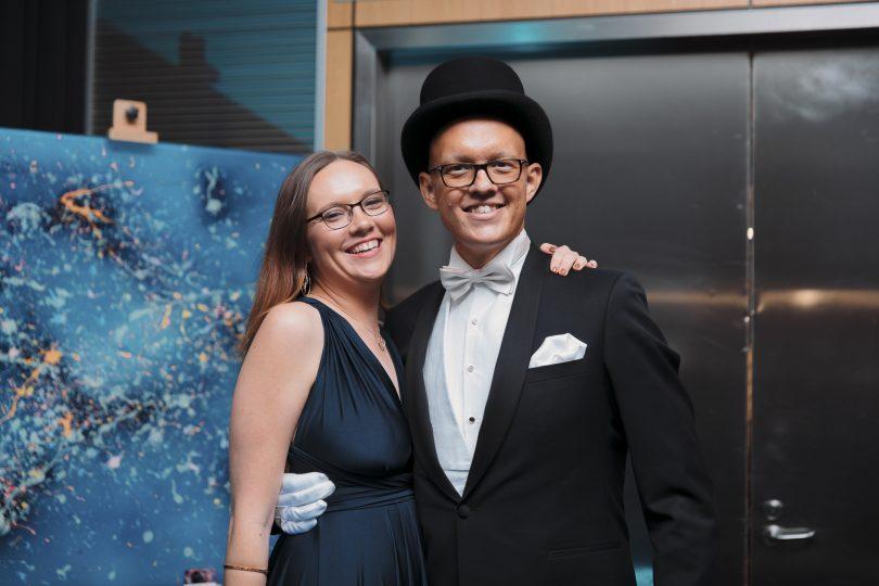 Rhys Summergreene with his sister Tara at the Resplendent Ball.