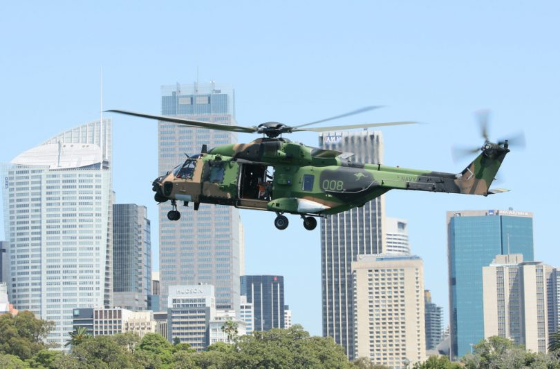 HMAS Albatross is home to 808 Squadron and their MRH-90 helicopters. Photo: navy.gov.au