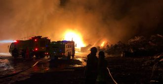 Firefighters work overnight to bring blazing fire under control in ACT scrap metal yard