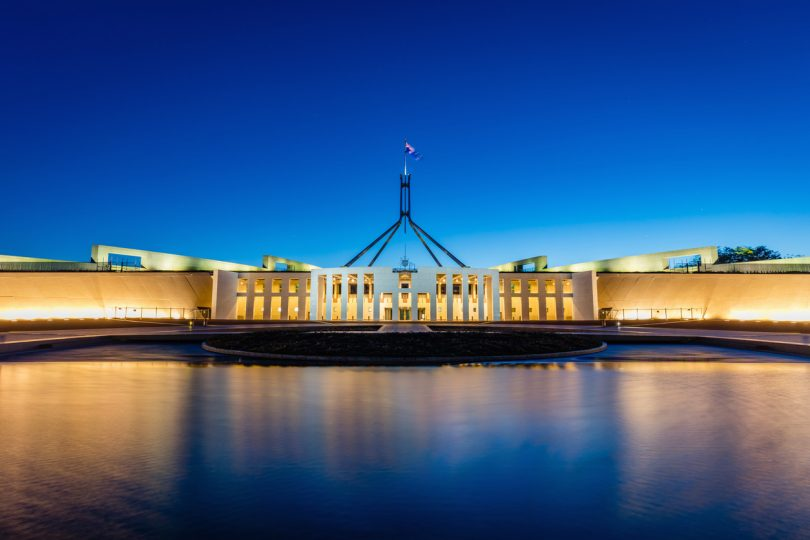 Australian Parliament House: File photo.
