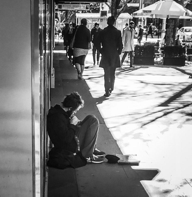 Steve, homeless man