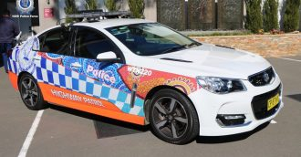 Eurobodalla and Bega Valley police car gets Aboriginal make over