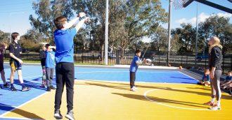 Basketball ACT's Holiday Hoops campsa slam dunk