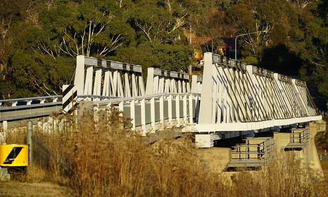Another week to complete Tharwa Bridge maintenance but open today as weather halts work