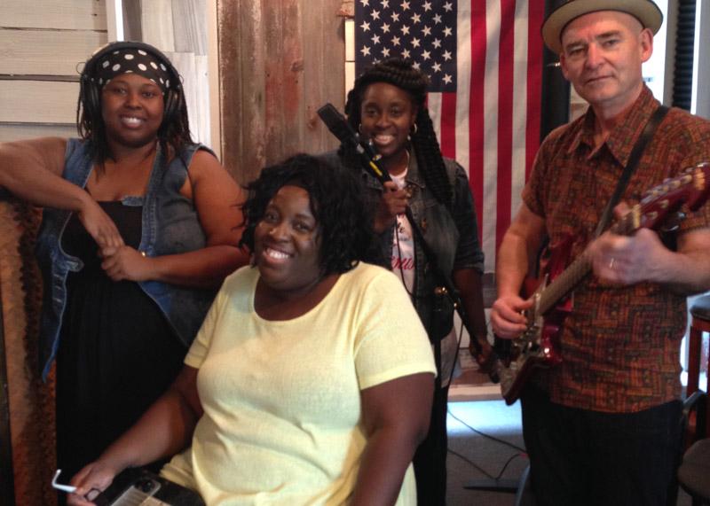 The band recording in a studio in Toledo, Ohio. Image courtesy of the artist.