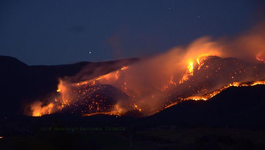 The Yankees Gap Road Fire, August 15. Photo: Rachel Helmreich