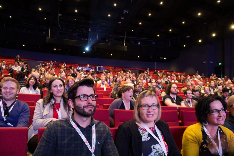 The crowd builds and waits in anticipation at TEDxCanberra 2017. Photo: Supplied.