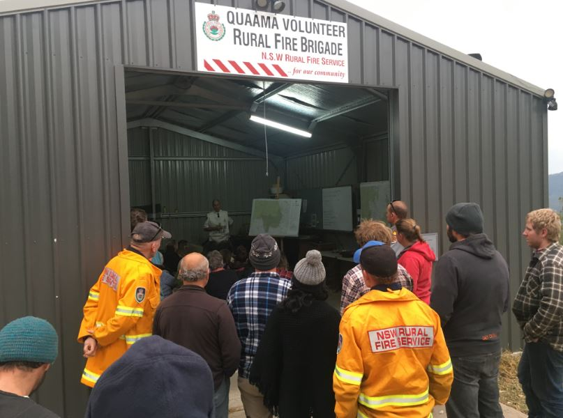 Around 70 people gathered on Sunday at the remote Upper Brogo Fire Shed. Photo: Ian Campbell.