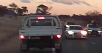 Dash-cam footage reveals frighteningly close call on Monaro Highway