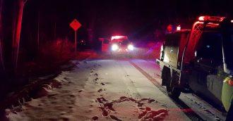Man rescued after car slides of road in snowy Brindabellas