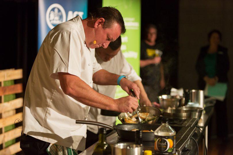 Darren Perryman, from Pialligo Estate, returns for the annual celebrity cook-off.