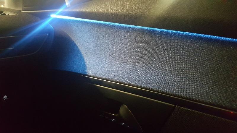 Cool blue interior lights