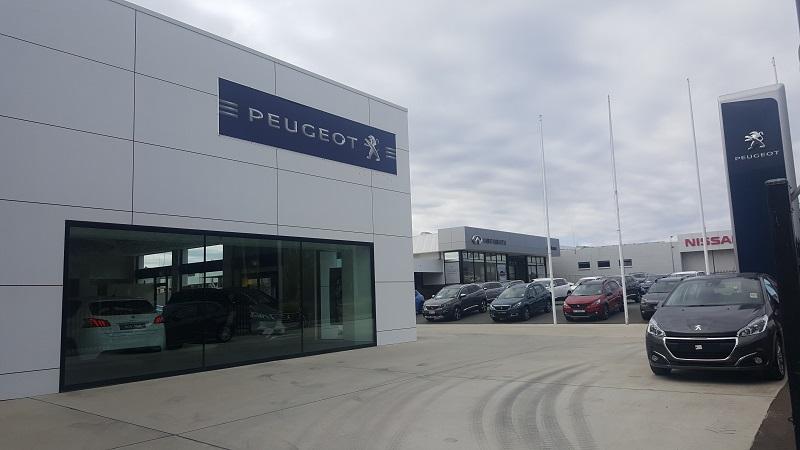 The Rolfe Peugeot dealership on Melrose Drive