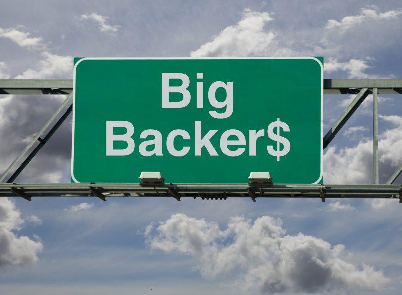 Big Backers road sign.