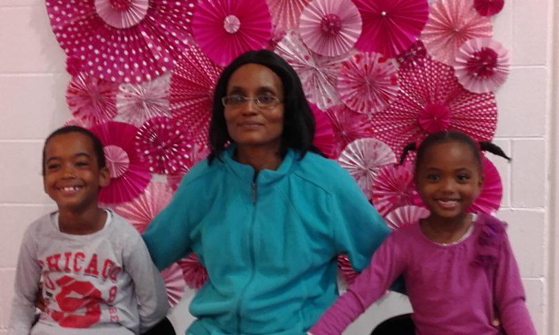Anne Muhoroand her children Ezvin and Fuhara