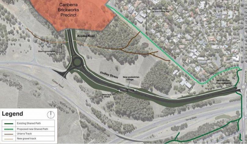 The Canberra Brickworks Precinct map