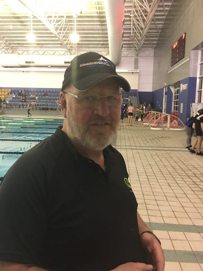 Jim Fowlie, head coach, Ginninderra Swim Club, CISAC. Photo: Tim Gavel.
