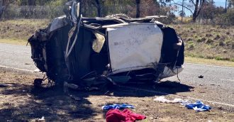 Horrific scene off Tuggeranong Parkway after car crashes into tree