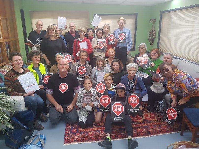 Stop Adani grassroots campaign in Canberra. Photo: Rebecca Vassarotti.