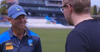 Meet Manuka Oval's head curator Brad van Dam as his historic summer of cricket starts